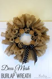 shambray deco mesh and burlap wreath