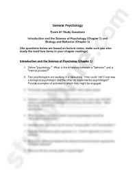 introduction to psychology study guide exam 1 study guide pdf psychology 1410 with quarto at middle
