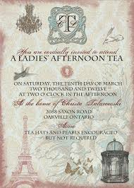 bridal tea party invitation wording vintage tea party bridal shower invitation with by anistadesigns