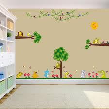 Jungle Wallpaper Kids Room by Kids Room Nursery Wall Decor Decal Sticker Cute Big Jungle Animals