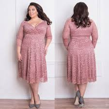 stunning plus size lace formal dresses with long sleeves v neck