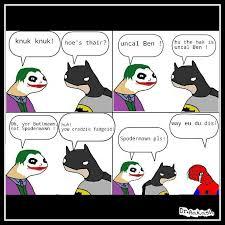 Spoderman Memes - butmon butman joker spodermon spoderman trolls memes