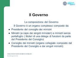 convocazione consiglio dei ministri argomento n 4 la forma di governo della repubblica italiana ppt