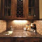 small butlers pantry kitchen contemporary with white countertops