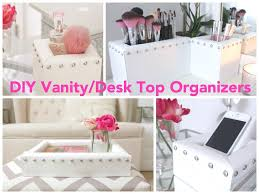 Diy Vanity Top Diy Vanity Desk Top Organizers Youtube