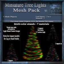 second marketplace miniature tree lights mesh pack