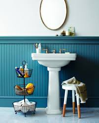 Blue Green Turquoise Bathroom Decor Space Saving Modern by Bathroom Cleaning Made Easy