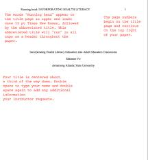 title page formats apa title apa style and