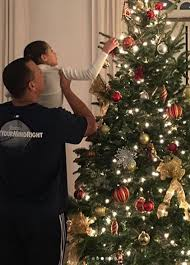 Anime Christmas Tree Ornaments Jennifer Lopez And A Rod Decorate Christmas Tree With Kids
