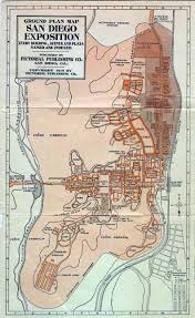 San Diego Old Town Map by Balboa Park An Urban History 1915 Panama California Exposition