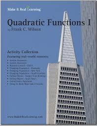 quadratic functions i workbook for algebra 1 or 2 make it real