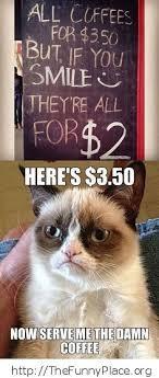Grumpy Cat No Meme - grumpy cat no smile coffee thefunnyplace