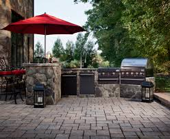 Outside Kitchen Ideas Exterior Design Outdoor Kitchen Design With Belgard Pavers And