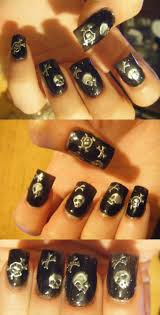 236 best nail art images on pinterest make up skull nails and