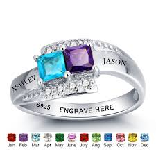 mothers day rings personalized personalized ring 925 sterling silver birthstone name engrave