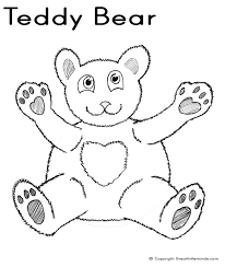 teddy bear colouring