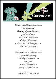 nursing graduation announcements nurses pinning ceremony invitation and caduceus nursing graduation