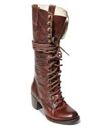grany freebird by steven grany lace up mid heel boots in brown lyst