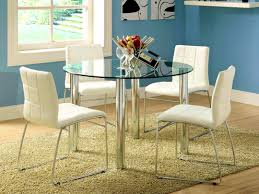 accessories personable small round pedestal dining table glass