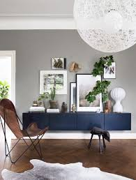 Light Grey Walls by Decordots Light Grey Wall Dark Sideboard Herringbone Floor And