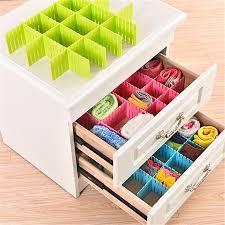 underwear organizer 4pcs set plastic diy grid thickened organizer storage box container