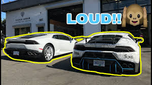 lamborghini modified 10 000 lamborghini exhaust battle stock vs modified youtube