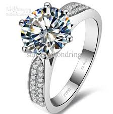 engagement rings sterling silver wholesale 3 ct synthetic rings sterling silver wedding