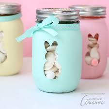 Mason Jar Decorations For Easter by Easter Bunny Mason Jars An Adorable And Easy Easter Craft