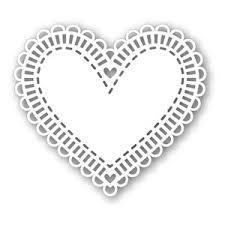 heart doily simon says st large heart doily craft die sssd111325