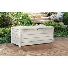 Outdoor Storage Box Bench Keter Brightwood Outdoor Plastic Deck Box All Weather Resin