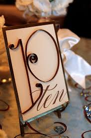 table numbers for wedding wedding details table numbers ideas