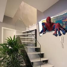 Spiderman Wallpaper For Bedroom Cartoon Sticker Spiderman 3d Wall Stickers Waterproof Wallpaper