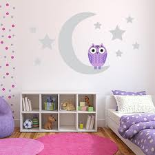 Owl Wall Decor by Purple Owl Wall Decals Owl Wall Stickers For Nursery