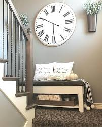 wall decor with clock farmhouse projects living room wall decor
