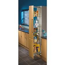 hafele pull out larder unit 300mm chrome cabinet storage