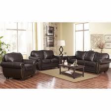 reclining sofa and loveseat set abbyson living barrington 3 pc living room set dark brown bjs