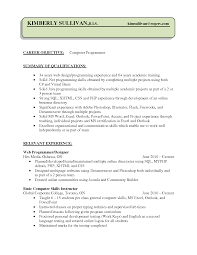 Resume Computer Skills Example Computer Programmer Resume Resume For Your Job Application