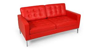 Red Loveseat Florence Loveseat Red Premium Leather Kardiel