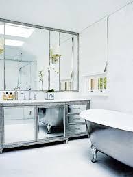Beveled Mirror Bathroom by Mirrored Bathroom Vanity French Bathroom Traditional Home