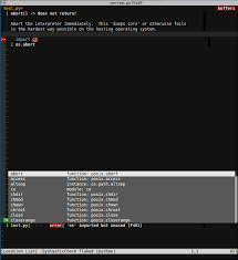 jedi vim pattern not found location list preview window autocompletion vi and vim stack