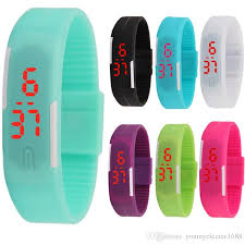 rubber bracelet watches images Fashion sport led watches candy color silicone rubber touch screen jpg