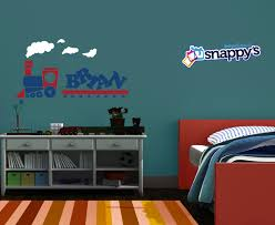 wall decals stickers snappy s boutique personalized toy train wall decal