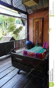 Beautiful Balcony Thai Style Resort House Balcony Stock Photo Image 52279596