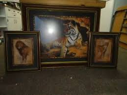 home interior tiger picture home interior pictures 3pc set tiger cheetah 33 27 2 13 5 17