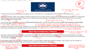 the white house sent me an email about trumps plans for american