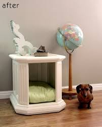 end table dog bed diy roundup 15 furniture turned pet bed projects curbly
