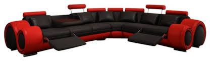 Modern Bonded Leather Sectional Sofa 4087 Modern Bonded Leather Sectional Sofa With Recliners