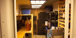 transform your shipping container into a container wine cellar
