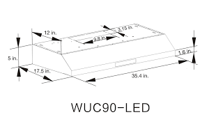 36 Under Cabinet Range Hood Stainless Steel 36 Inch Stainless Steel Under Cabinet Range Hood Model Wuc90 Led