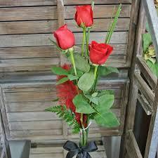 Long Stem Rose Vase Long Stem Red Rose In A Vase Kf007